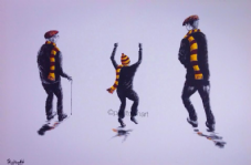 The Generation Game in Bradford City Colours Box Canvas 20'' x 30''